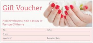 Pamper@home gift voucher